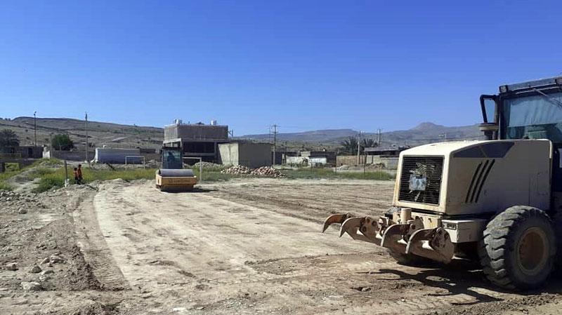 عملیات زیرسازی پارک مادر و کودک محمله